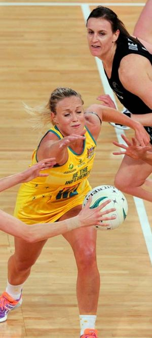 Kim Green in action against New Zealand last month.