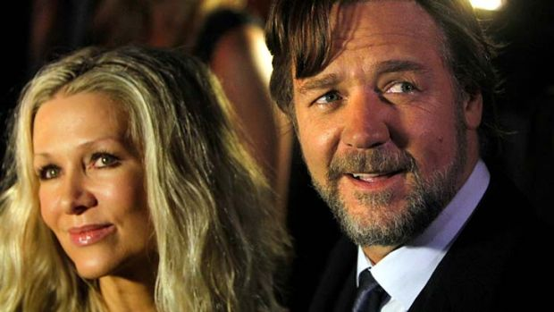 Said to be an amicable split ... Russell Crowe and his wife of nine years, Danielle Spencer.