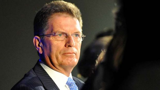 Facing a drubbing... Premier Ted Baillieu.
