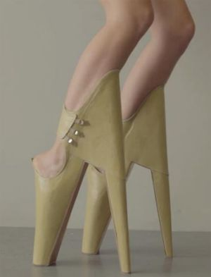 "<i>Scary Beautiful</i> shoes are designed to ""inflict an unexpected new beauty standard""."