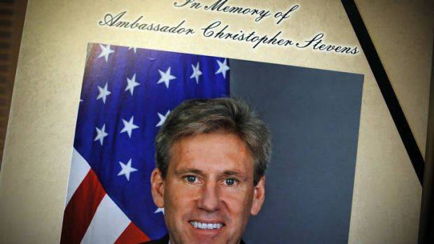 The condolence book for Christopher Stevens in Washington