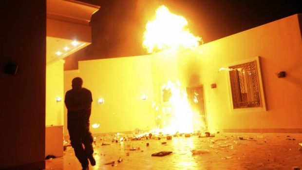 Political fallout ... the destruction of the US consulate in Benghazi and death of four US citizens on September 11 has ...