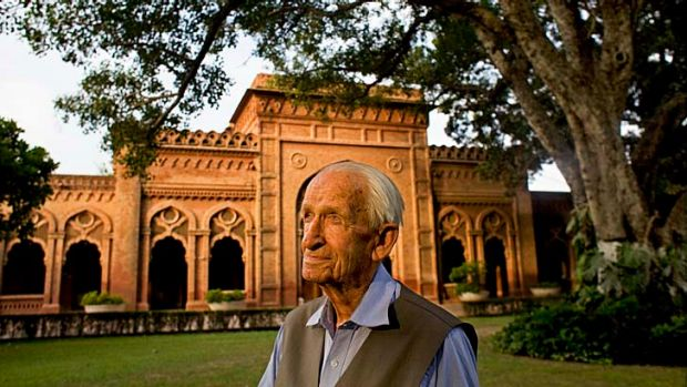 Major Geoffrey Langlands, the former British colonial officer and a lifelong educator, at the Aitchison College campus, ...