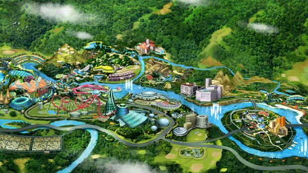 Artist impression of a $2 billion theme park in the Swan Valley. Picture: Rubicon Group Holding