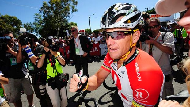 Tour asunder ... the heavy promotion of Lance Armstrong at the Tour Down Under.