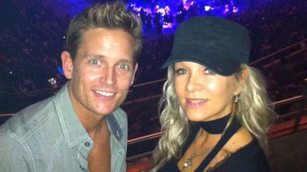 Damian Whitewood, pictured with Danielle Spencer.