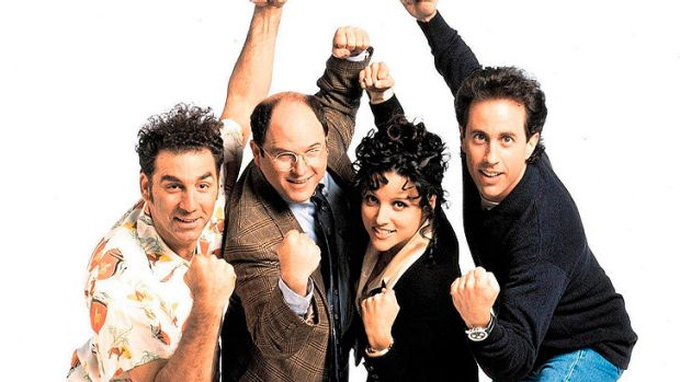 With his fellow <i>Seinfeld</i> cast members (from left) Michael Richards, Jason Alexander and Julia Louis-Dreyfus.
