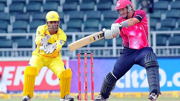 All-rounder Shane Watson playing for the Sydney Sixers against Chennai Super Kings in Johannesburg.