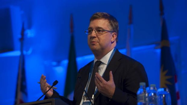 The managing director of the Future Fund, Mark Burgess, said the fund had profited from a global rally of sharemarkets ...