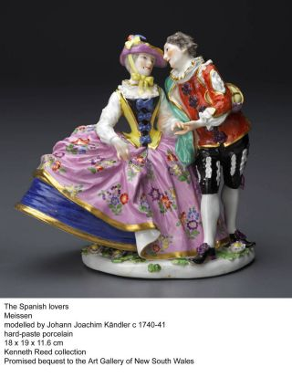 A porcelain sculpture which is part of the Kenneth Reed photogallery. Called The Spanish Lovers it was modelled by ...