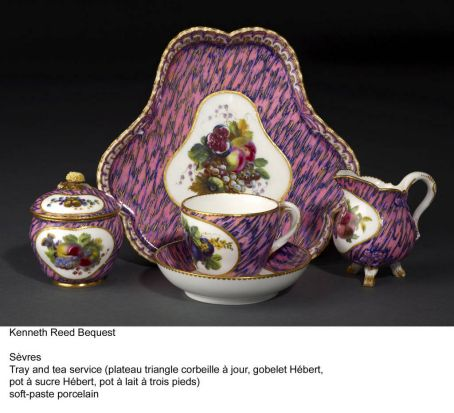 "A porcelain sculpture which is part of the Kenneth Reed photogallery. By S?vres (France) titled ""Tea service"" circa 1762."