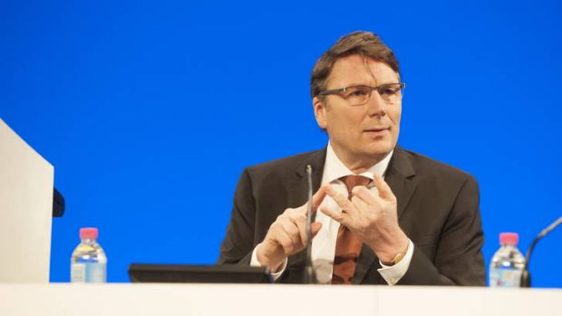 Chief executive David Thodey at the annual meeting yesterday.
