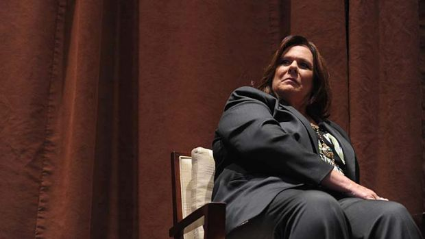 Moderating the debate ... Candy Crowley.
