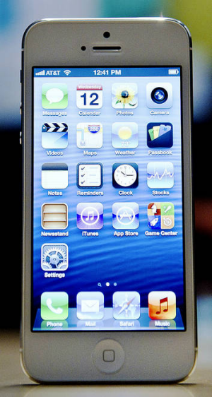 The new Apple Inc. iPhone 5.