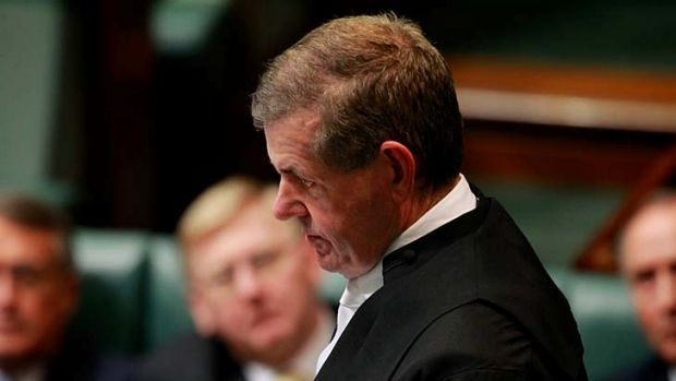 Peter Slipper ... resigned as speaker of the house.