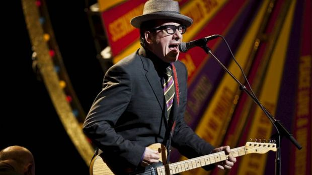 Elvis Costello, who will tour in January.