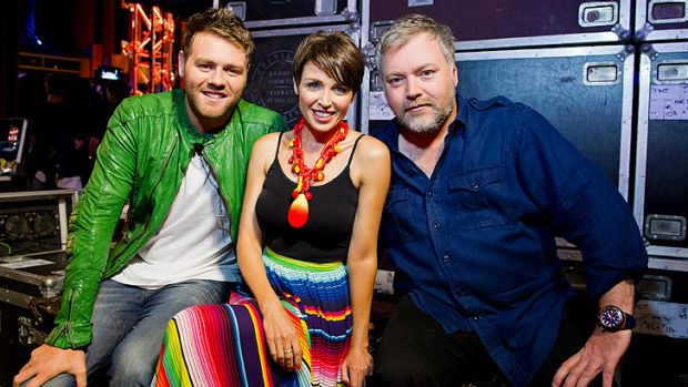 <i>Australia's Got Talent</i> judges (from left) Brian McFadden, Dannii Minogue and Kyle Sandilands.