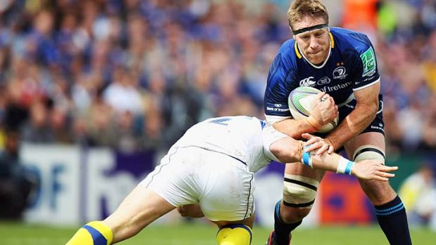 Brad Thorn in action for Leinster.