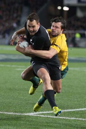 Target ... Israel Dagg's All Blacks are shooting for 17 straight.