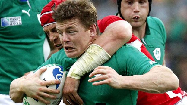 Dream on ... Irish linchpin Brian O'Driscoll.