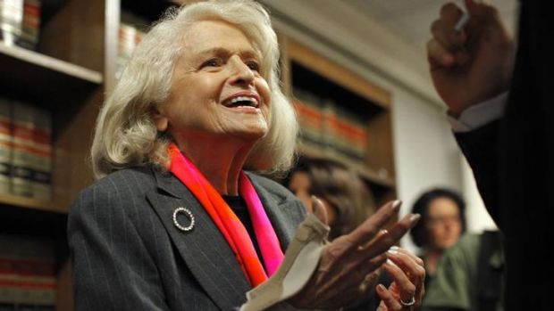 Long road ... Edith Windsor, 83, whose case established another milestone for gay couples in the US.