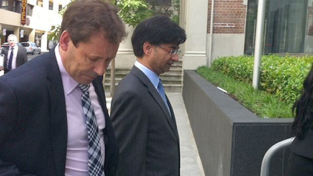 Lloyd Rayney (right) and his lawyer, David Edwardson.