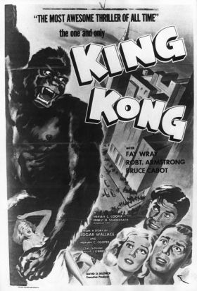 Poster for the original King Kong, starring Fay Wray.