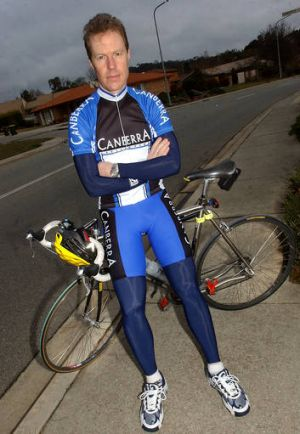 Canberra cyclist Stephen Hodge.