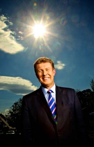 Overachiever ... Nine newsreader Peter Overton has helped the station's Sydney team to No.1.
