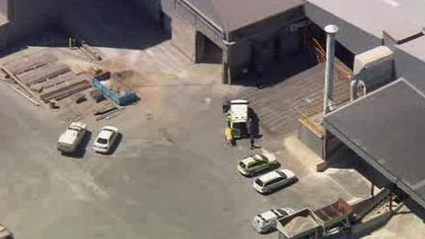 An aerial picture of the factory. <i>Photo:Channel Ten</i>