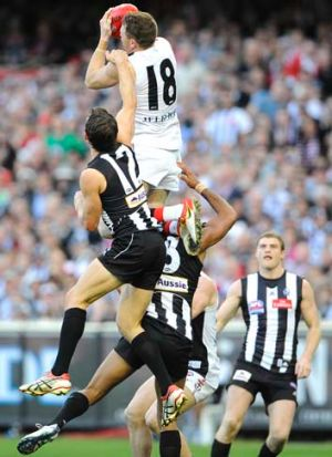Exception: Brendon Goddard is way above the other free agents who have changed clubs. Inset: Magpie Ron Todd, who went ...
