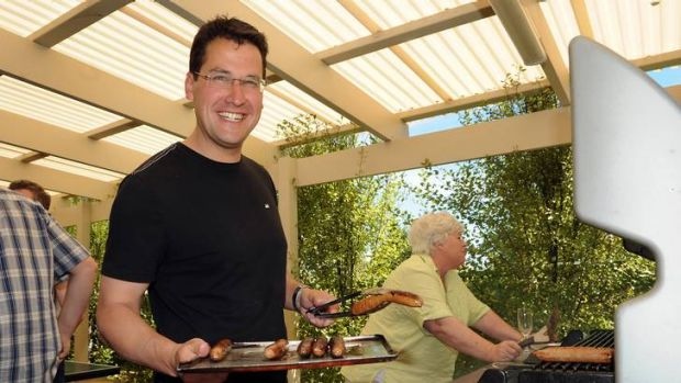 Liberal leader Zed Seselja held a bbq at his house yesterday afternoon.