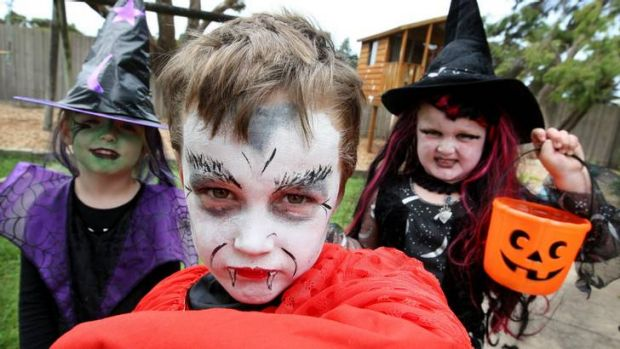 Children are enjoying the spooky fun and gorging of Halloween with enthusiasm.