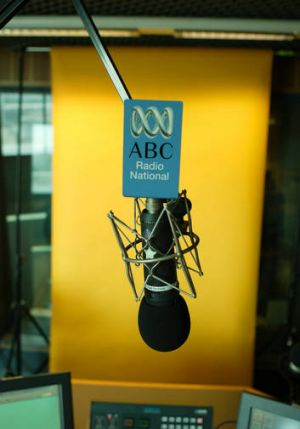 Radio National studio photographed at the ABC Building in Ultimo, Sydney.