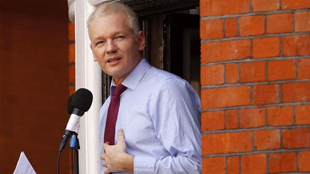 """""""Ecuador granted Assange asylum on August 16 but Britain refuses to grant him safe passage out of the country""""."""