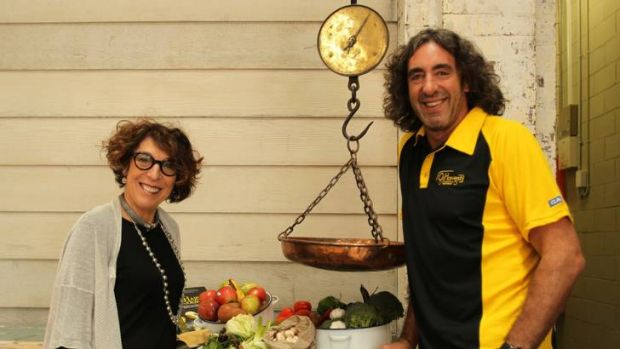 Too good for refuse … Ronni Kahn and Richard Fox urge others to use food before it's thrown away.