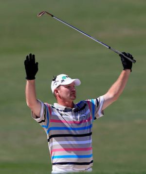 Nowhere man: Tommy Gainey rejoices.