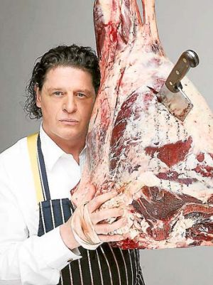 Professional focus ... Marco Pierre White heads to the MasterChef kitchen.