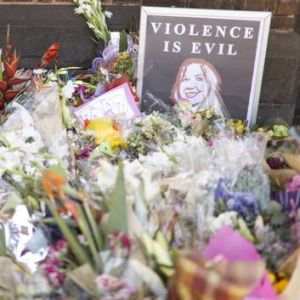 At Brunswick Baptist Church on Sydney Road in Melbourne, tributes left for Jill Meagher.