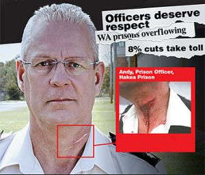 A prison officer who was injured featured in a Respect the Risk campaign advert.