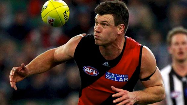 Bombers ruckman David Hille.