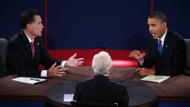 President Barack Obama met Republican presidential candidate Mitt Romney in Florida for the third, and final, debate.