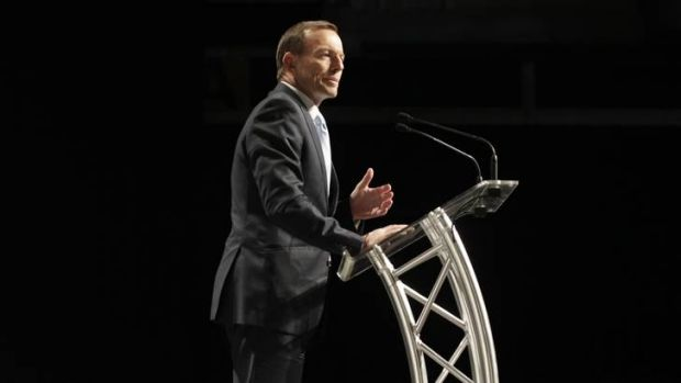 Opposition Leader Tony Abbott addressed the National Farmers Federation in Canberra yesterday.