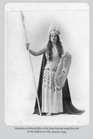 A woman of many roles: Marjorie Lawrence as Brunnhilde in January 1933.