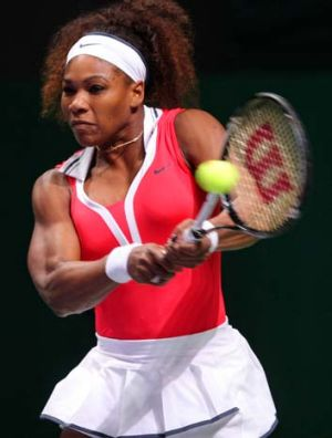Serena Williams at the WTA Championships in Istanbul.