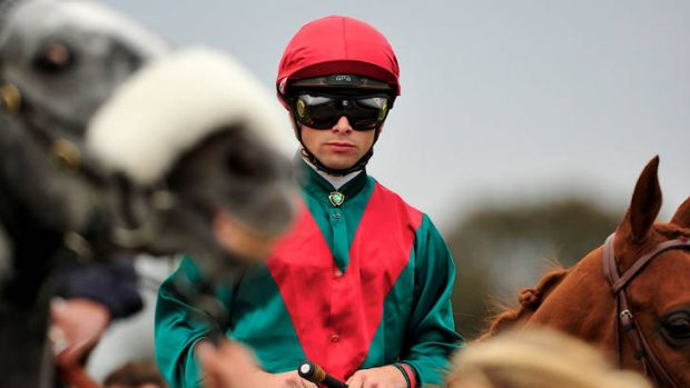 Dress rehearsal: Italian jockey Umberto Rispoli on Brigantin yesterday.
