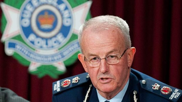 Outgoing police commissioner Bob Atkinson.