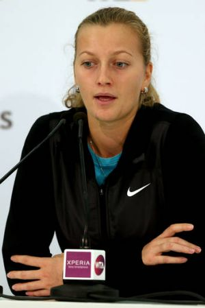 Petra Kvitova after withdrawing from the WTA Championships in Istanbul, Turkey.