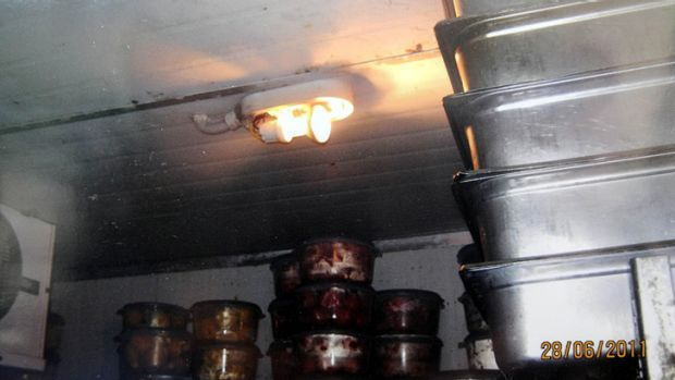 Food stored in Sofia's pizza restaurant, where the court heard a cockroach was seen  'running across a pizza'.