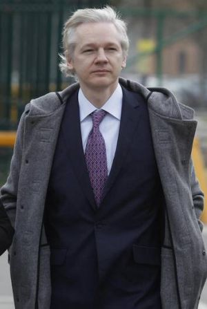 Assange in February last year.